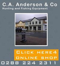 We here at C A Anderson and Co have been supplying quality fishing tackle and shooting equipment at competitive prices for 100 years.