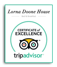 At Lorna Doone House you will find friendly attentive service, tastefully decorated rooms, lots of little extras and excellent food and drink. We are rated by Visit Britain as a 4 Star Silver Award Guest Accommodation which is high praise indeed. We're here to help you enjoy your stay in beautiful North Devon. We make a great base for walking with many walks starting and ending right at our door !