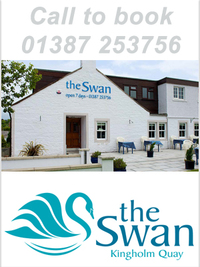 A warm welcome awaits you at the Swan, Kingholm Quay, Dumfries with Angela McIntyre, previously venue manager of Easterbrook Hall, at the helm.The short drive out of Dumfries along Kingholm Road to the Swan is well worth the effort, or if you're feeling a little more energetic, then take the picturesque walk from Dock Park along the river to Kingholm Quay. We serve straightforward good pub food, in a lovely setting, with quick and friendly service.Spend a warm summer's evening in our spacious beer garden, or snuggle up inside in the winter next to our log-burning stoves.